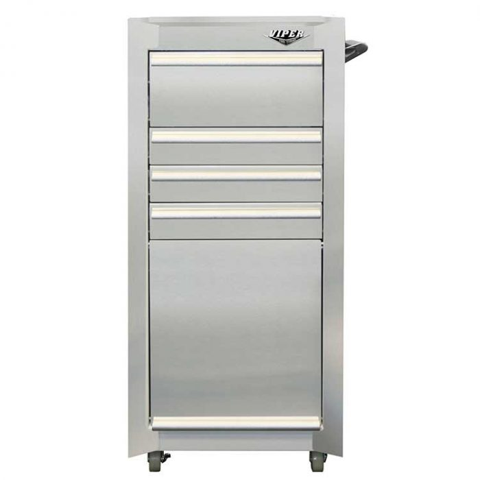 Stainless Steel 16 4 Drawer Tool Cart Viper Tool Storage