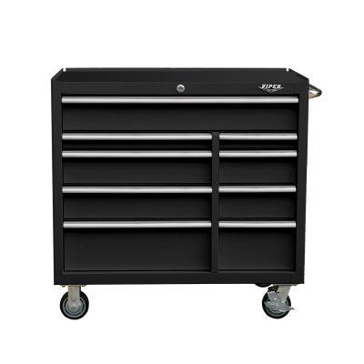 Premium Series 41 Inch 9 Drawer Rolling Cabinet