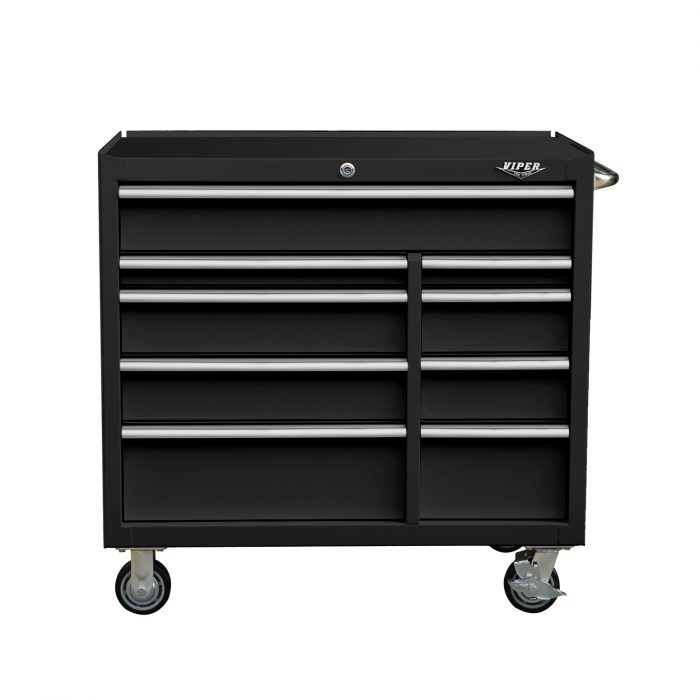 Premium Series 41 Inch 9 Drawer Rolling Cabinet